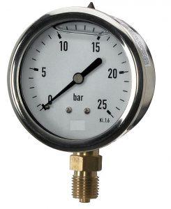 Glyzerinmanometer Standard Rohrfedermanometer