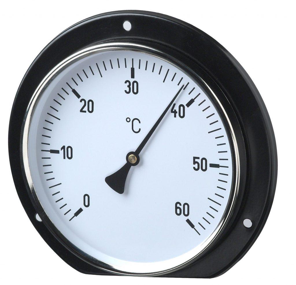 Luftkanalthermometer mit hinterem Befestigungsrand Standard-Bimetallthermometer