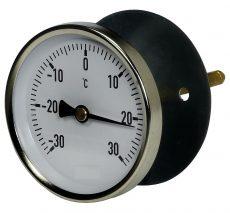 Luftkanalthermometer mit verschiebbarem Distanzflansch Standard-Bimetallthermometer