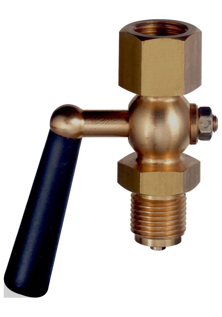 Manometer - Absperrhahn Zapfen/Muffe gemäß DIN 16261-B, in Messing, bis 16 bar Manometer – Absperrhähne