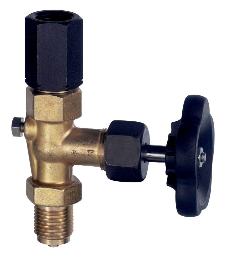 Manometerventil ohne Prüfanschluss, bis 400 bar gemäß DIN 16270 Form A, Zapfen/Spannmuffe Manometerventile