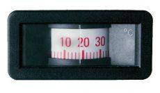 Tensions-Fernthermometer in Profilausführung mit Trommelskala und Frontring mit seitlichen Schnapprasten Fernthermometer