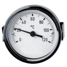 Tensions-Fernthermometer mit 3-Kant-Frontring und rückseitiger Bügelbefestigung, bis zu 10m entfernt von der Messstelle Fernthermometer